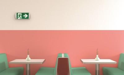 Interior of American Diner, 3D Rendering