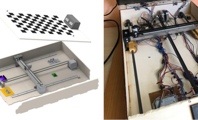 Szybkie i ciche procesy wykonywane przez Chess Buddy, automatycznego robota przystosowanego do gry w szachy, zagwarantowane są przez aluminiowe wały drylin o dużej precyzji oraz bezsmarowne łożyska ślizgowe od igus. (Źródło: igus GmbH)
