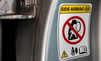 74539277 - car warning airbag sign modern